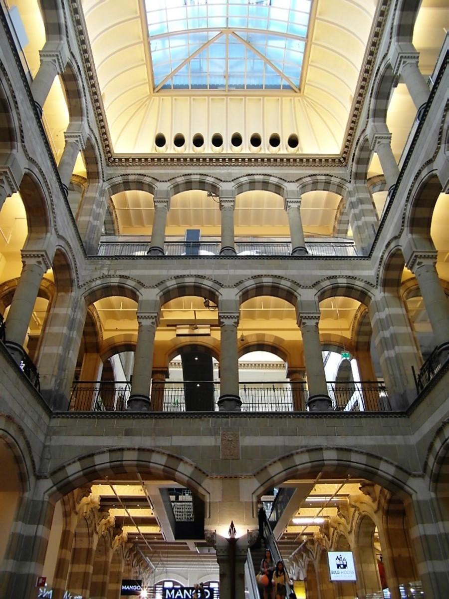 Inside Magna Plaza.