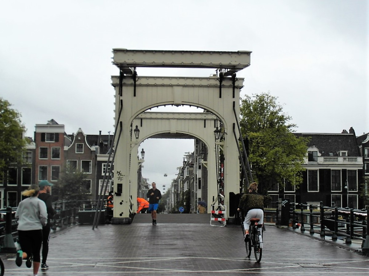 Magere Brug, crossing the River Amstel in Amsterdam.