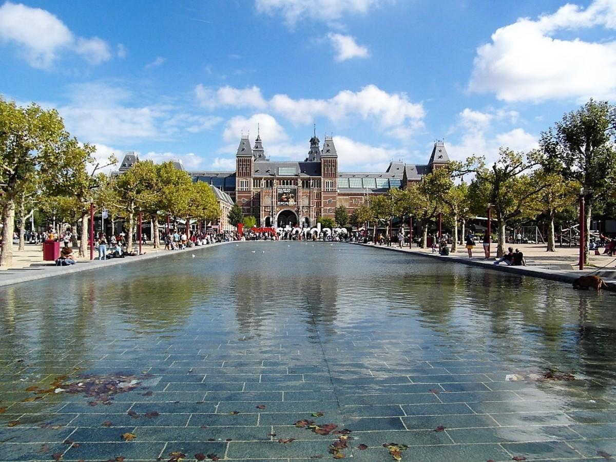 Setting of the Rijksmuseum, Amsterdam.