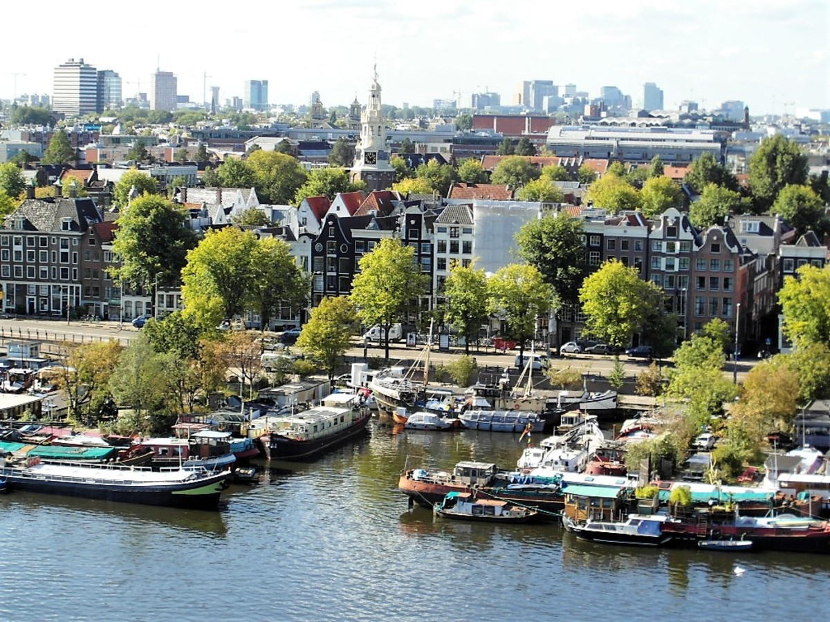 Amsterdam from the OBA.