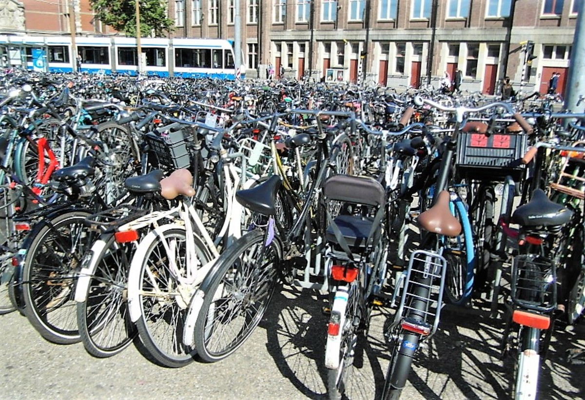 Bicycles in Amsterdam.