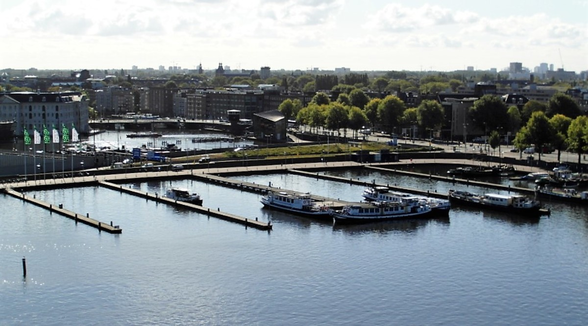 View of Oosterdok, Amsterdam from the OBA.