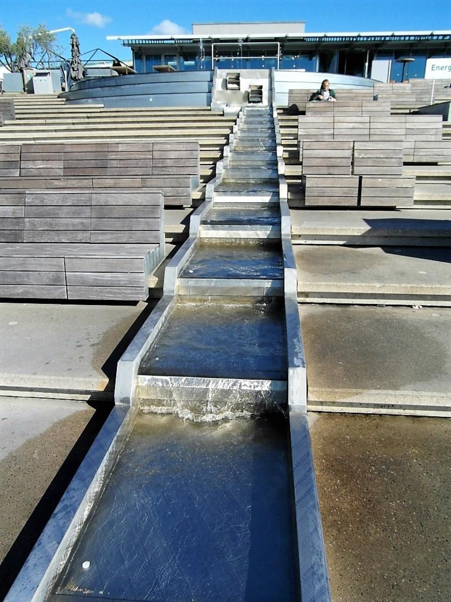 NEMO rooftop water features.