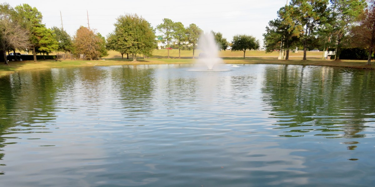 Waterways in La Centerra Shopping Center are a part of the Willow Fork Drainage District.