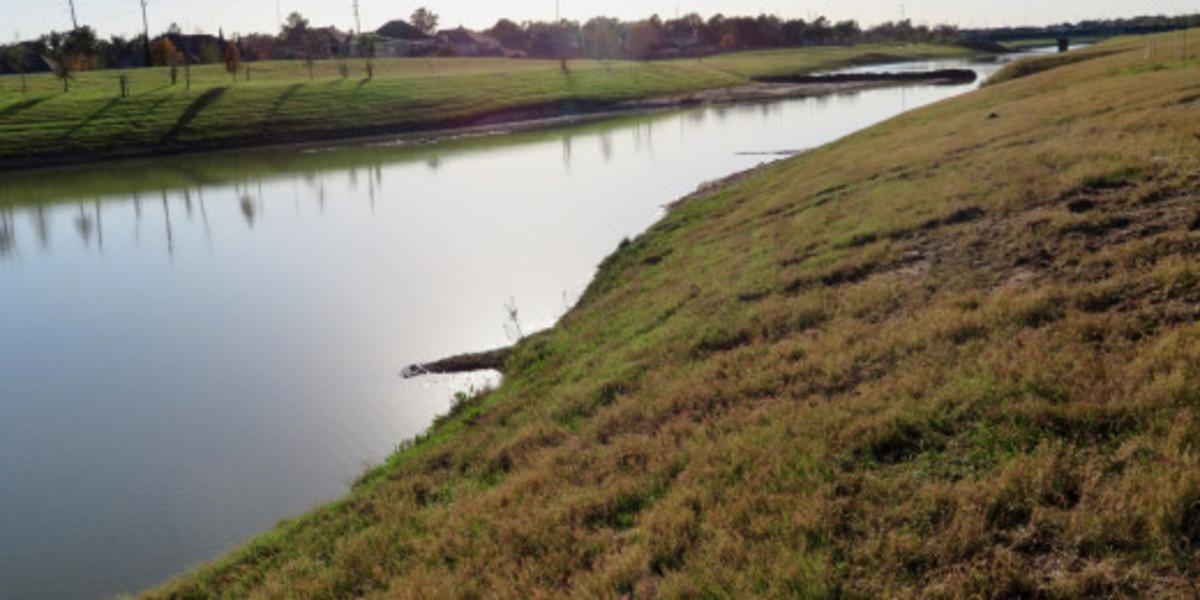 Water diversion channel near Exploration Park