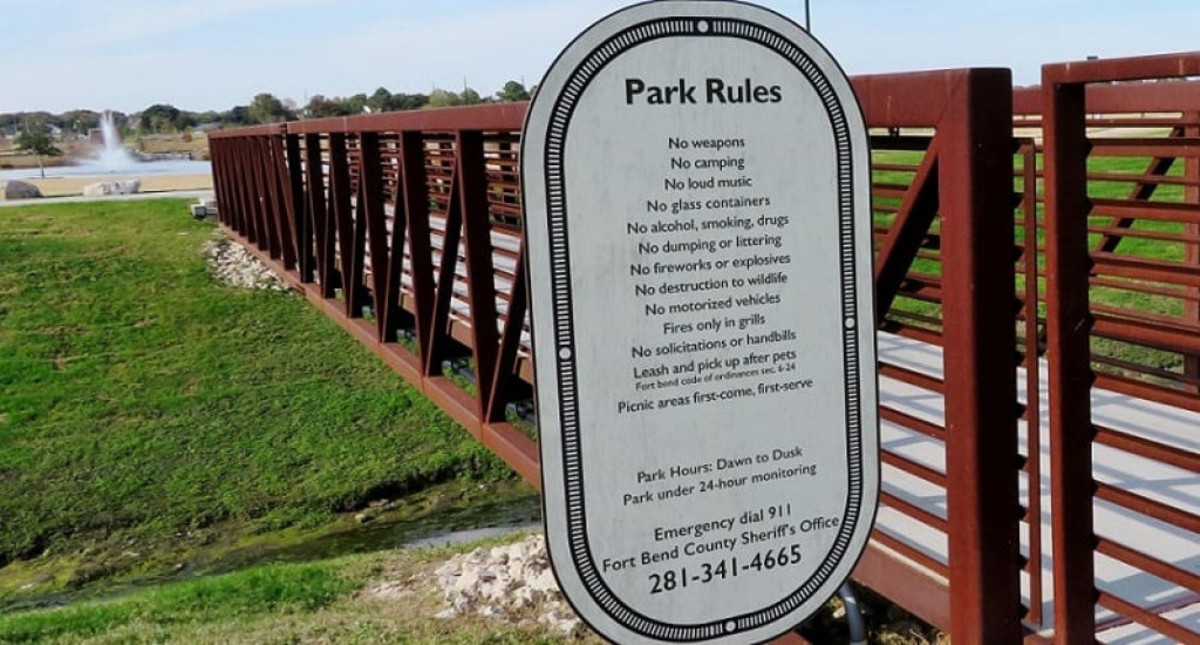 Posted Park Rules