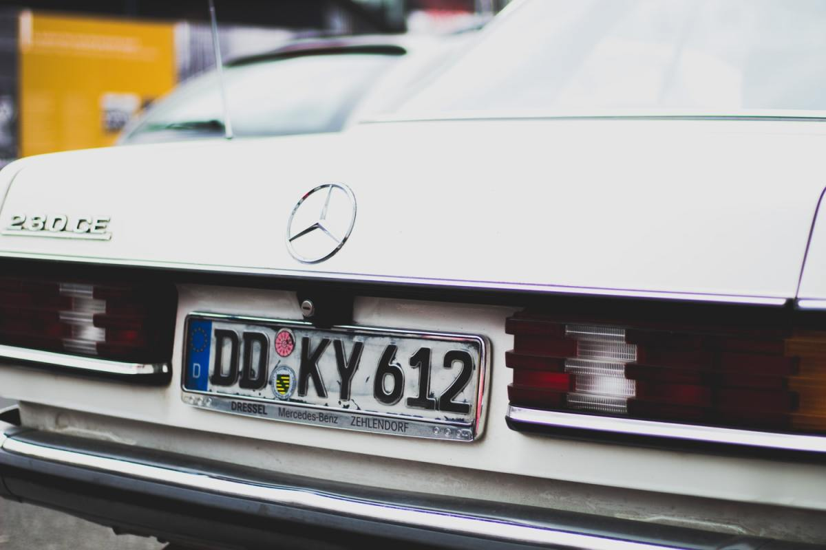 Typical German license plate
