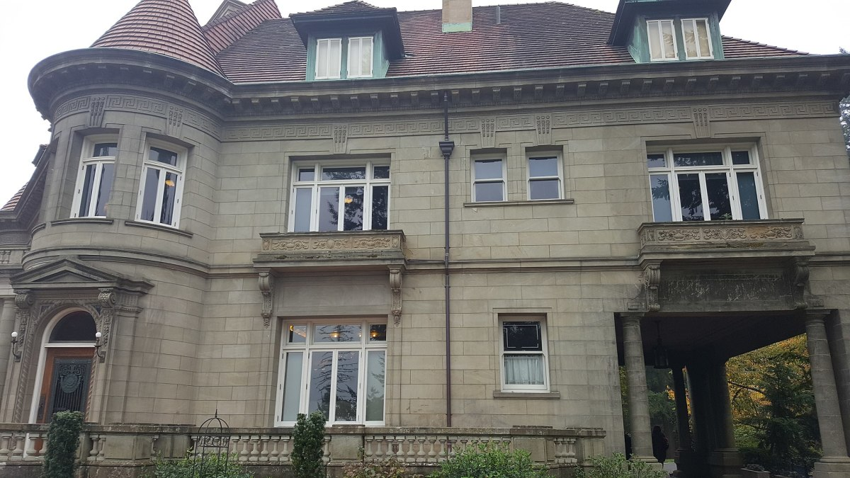 Exterior view of the mansion