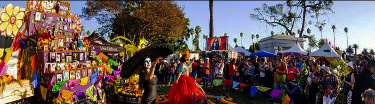 Dia de Los Muertos -- the Day of the Dead -- Celebration in Hollywood Forever Cemetery