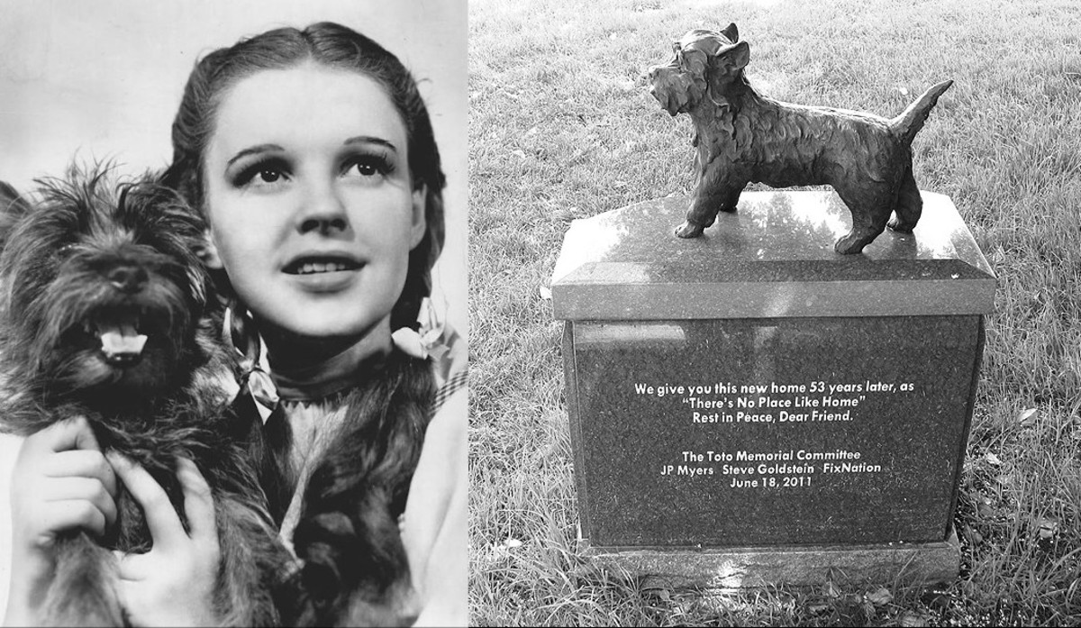 """There's No Place Like Home"" -- Judy Garland and Toto in The Wizard of Oz"