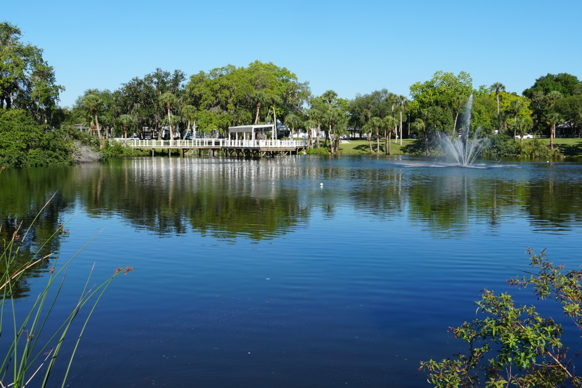 Orange Lake - The path that circles the pond is approximately 1/3 mile.