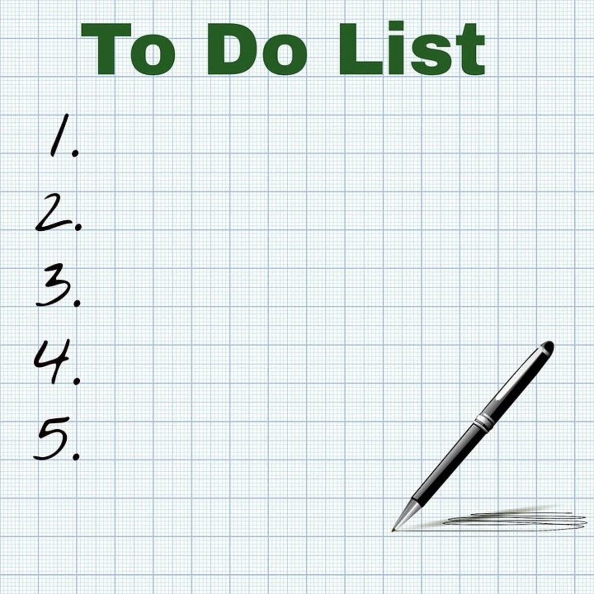 Making a to do list is an important part to getting your house ready.