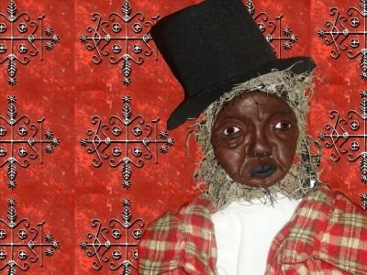 Papa Legba collage copyright 2010 Denise Alvarado All rights reserved worldwide.