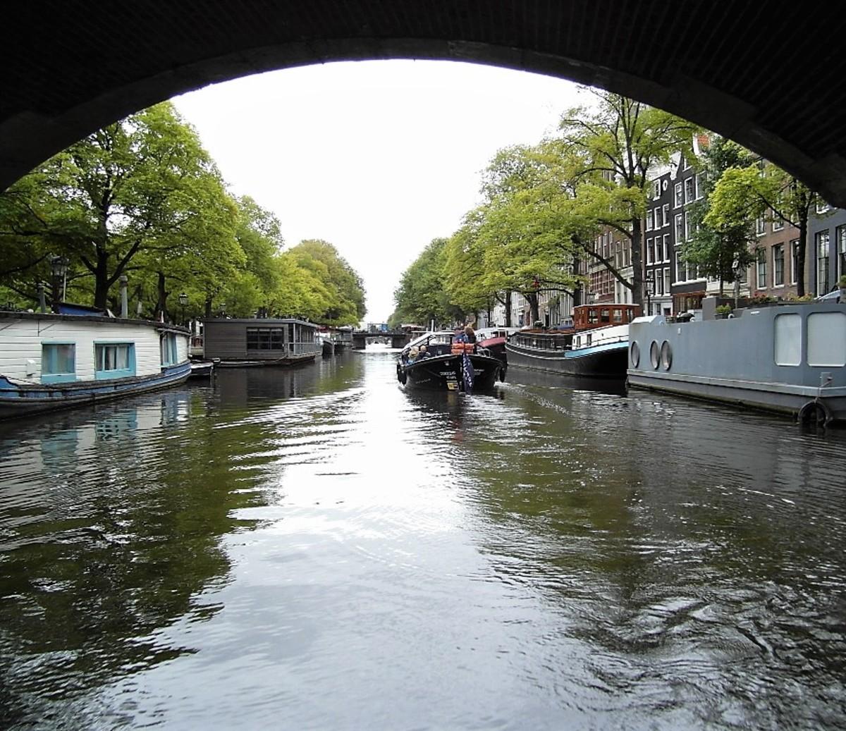 A quiet neighbourhood in Amsterdam.