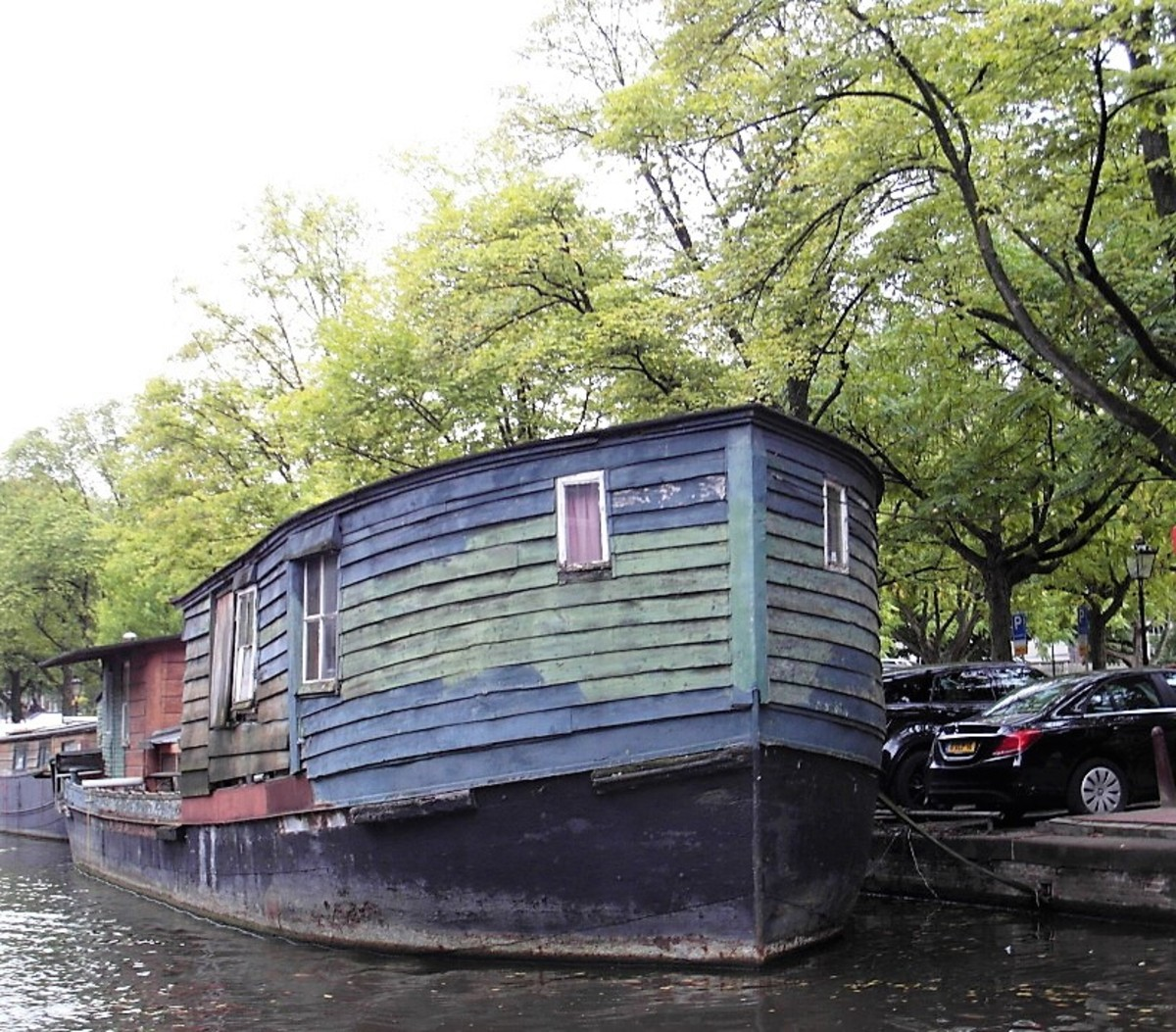 Houseboat in Amsterdam.