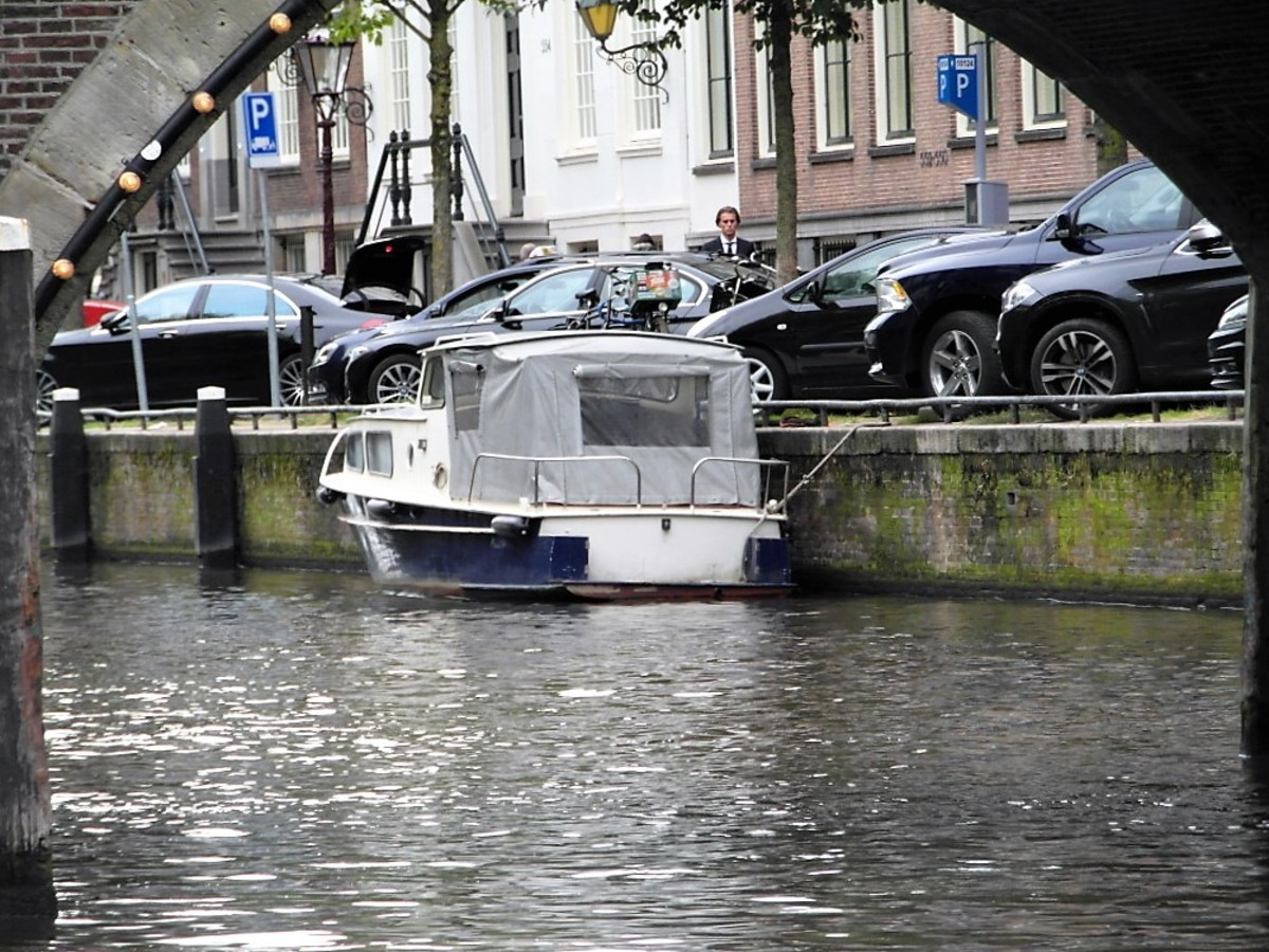 Moored up in Amsterdam.