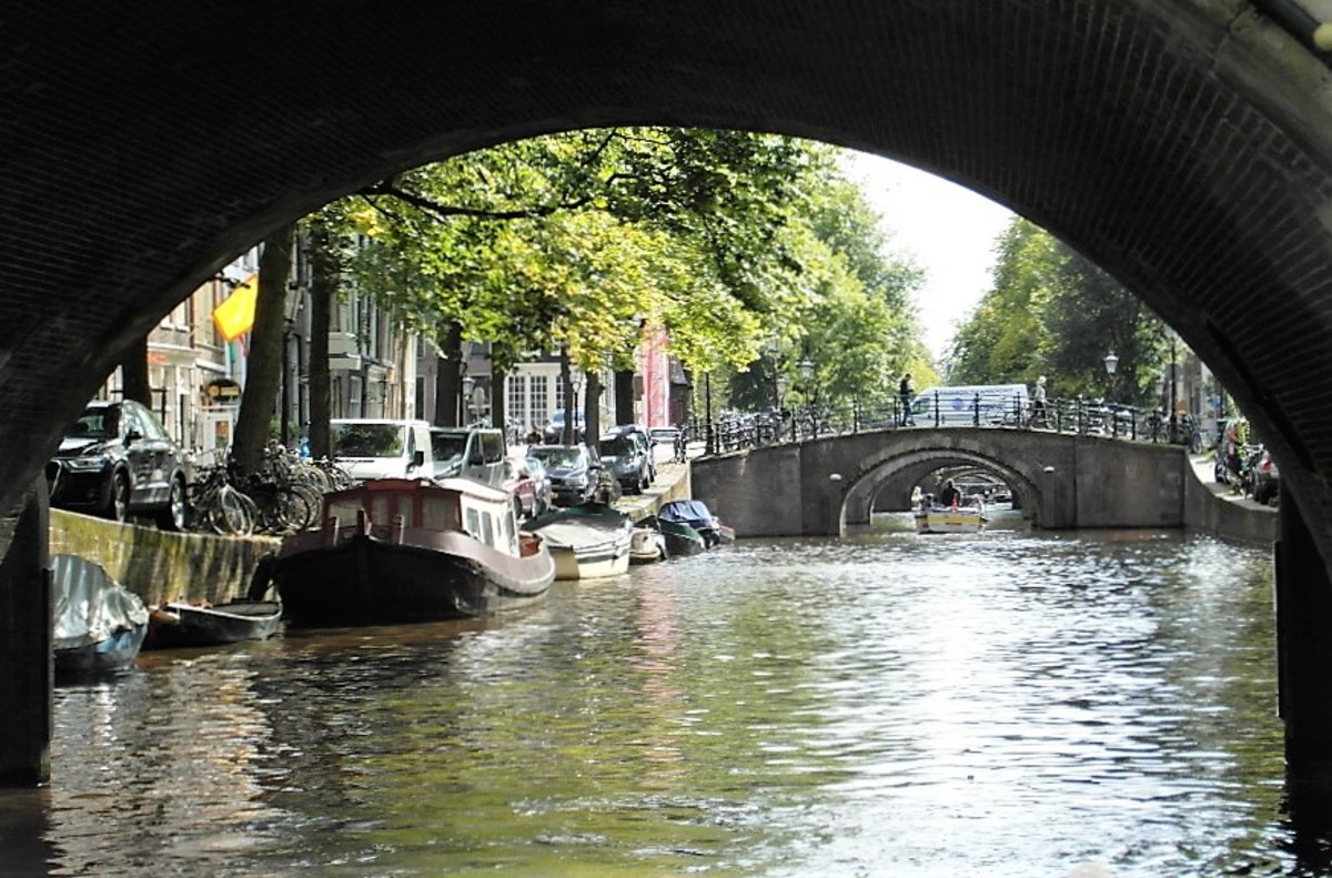 Amsterdam from the canal.