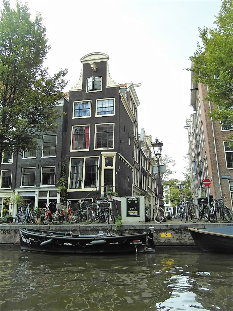 Amsterdam from the water.