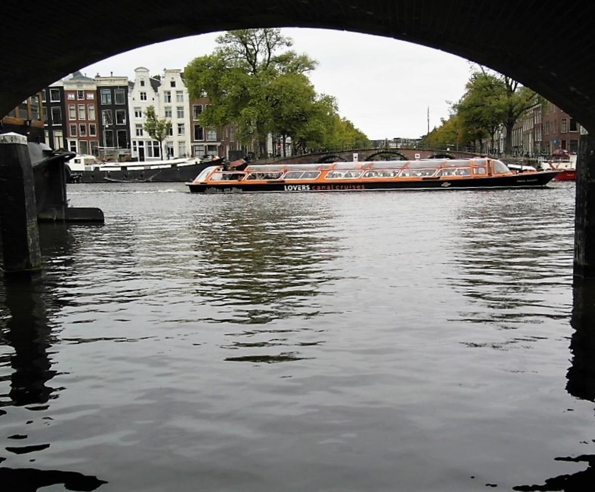 Under a bridge view, Amsterdam.