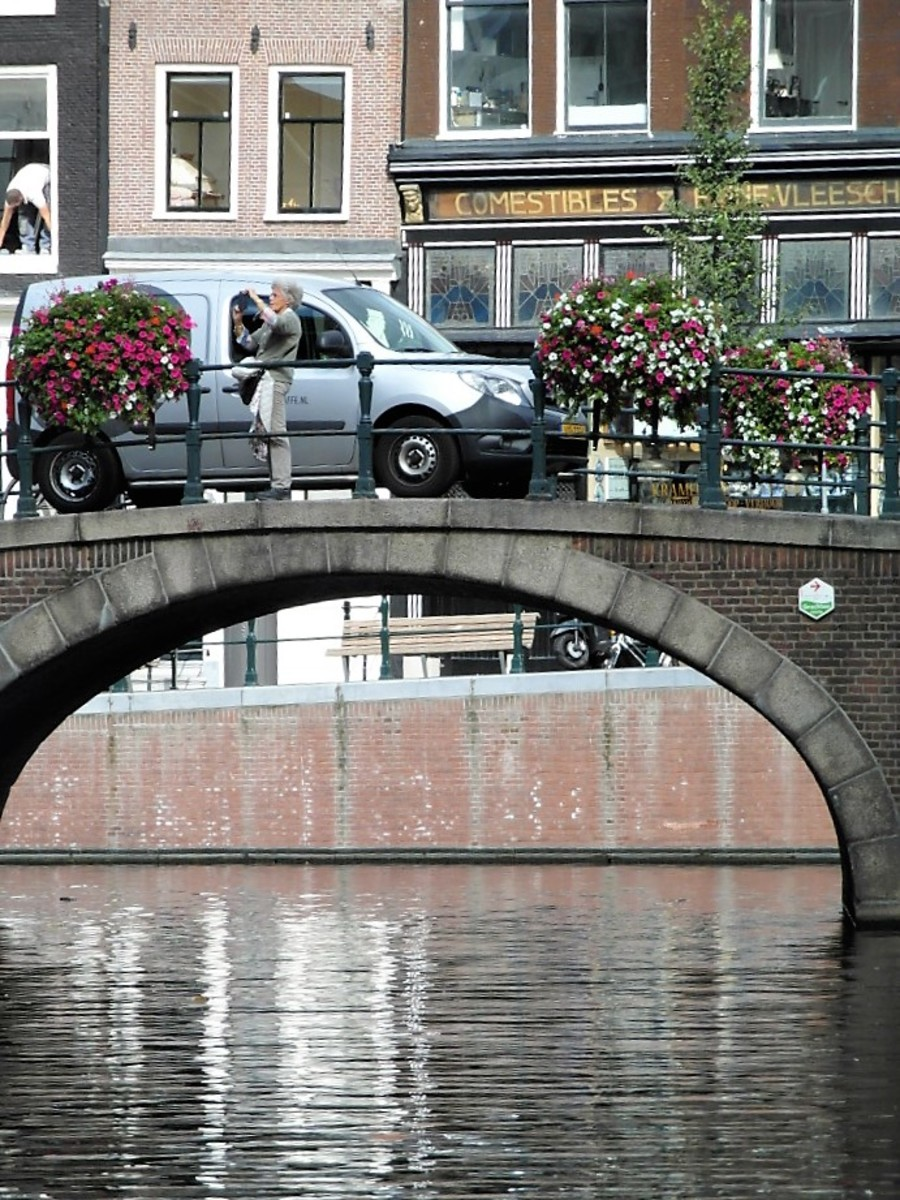 A bridge view in Amsterdam.