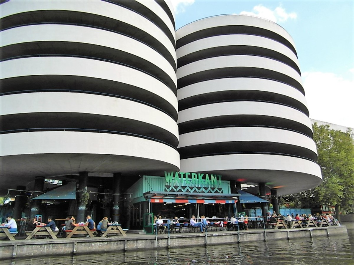 Even the carparks look stylish in Amsterdam.
