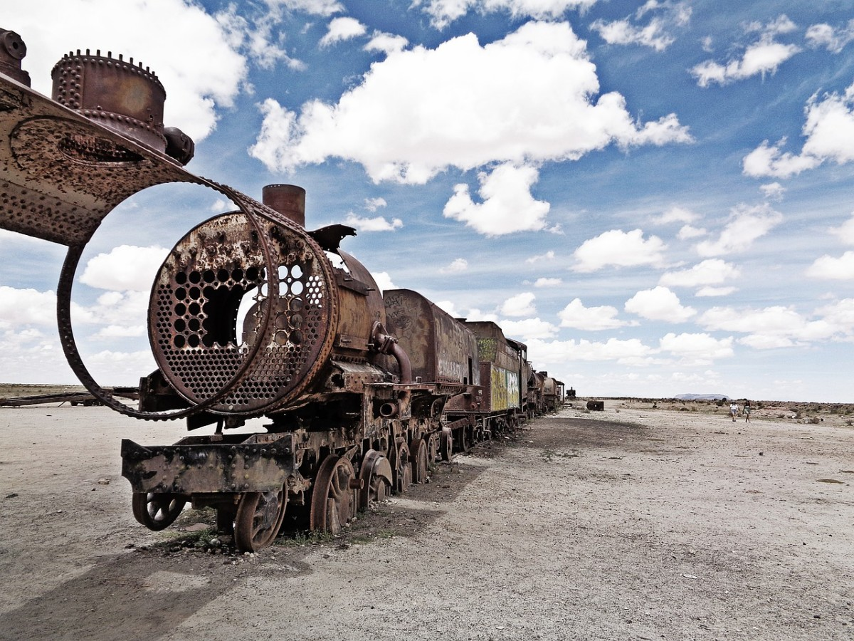 The Train Cemetery in Uyuni is a unique must-see when in Bolivia.