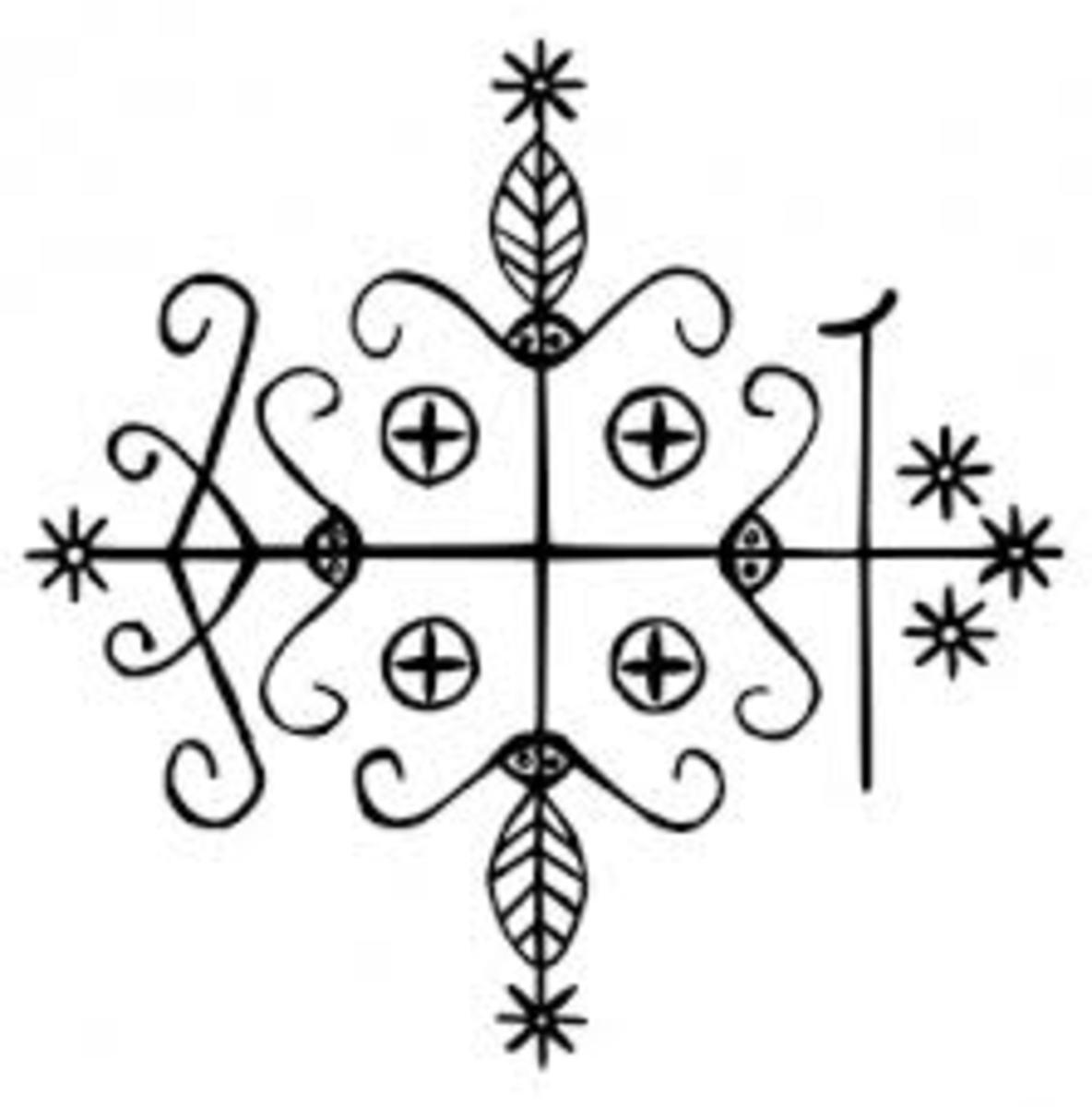 Traditional Papa Legba Veve, public domain