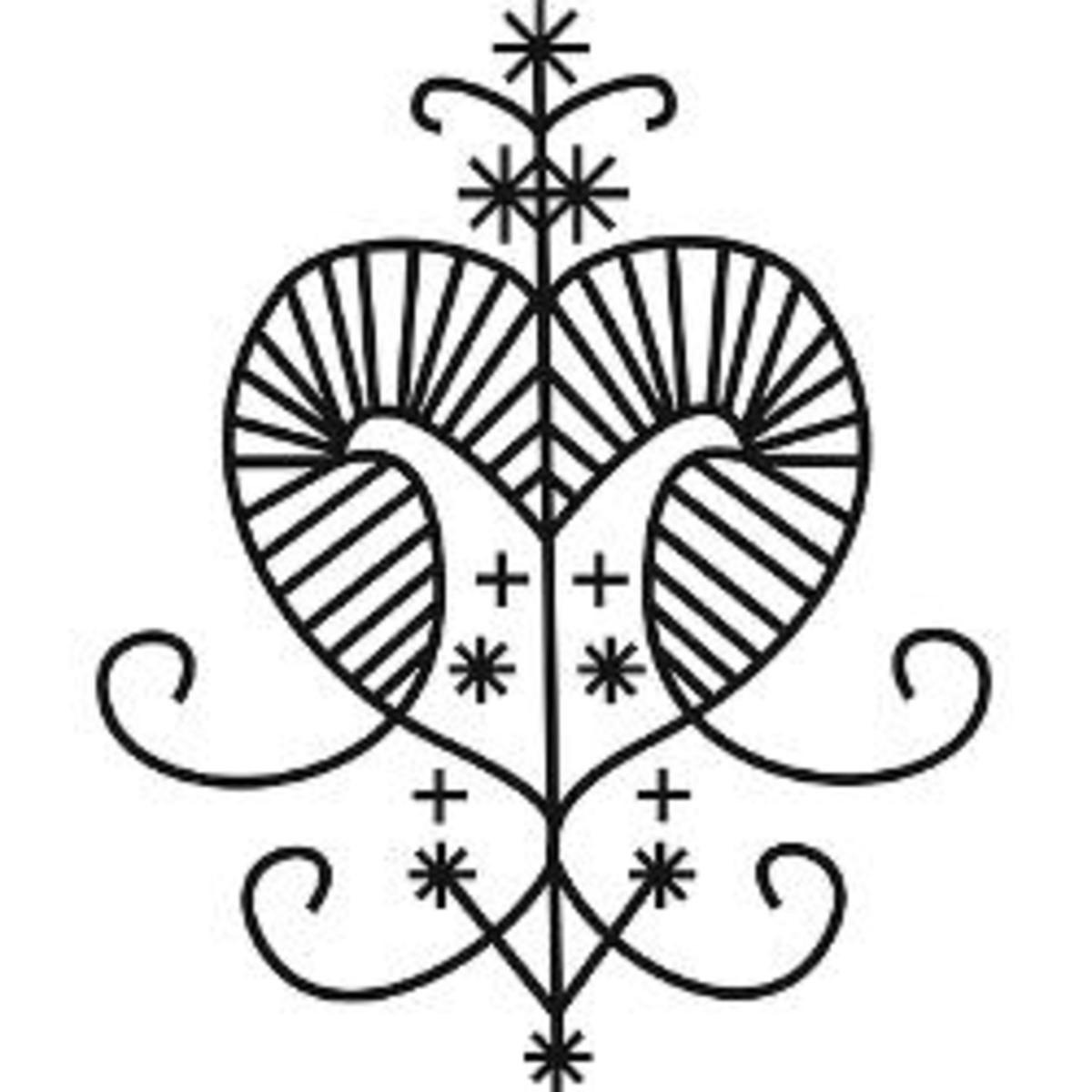 Traditional Erzulie Freda Veve, public domain.
