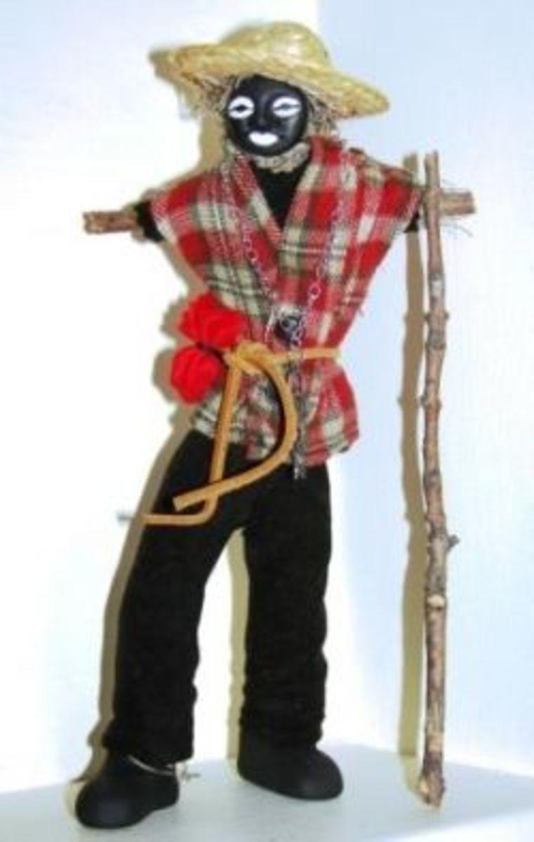 Papa Legba Altar Doll by Denise Alvarado