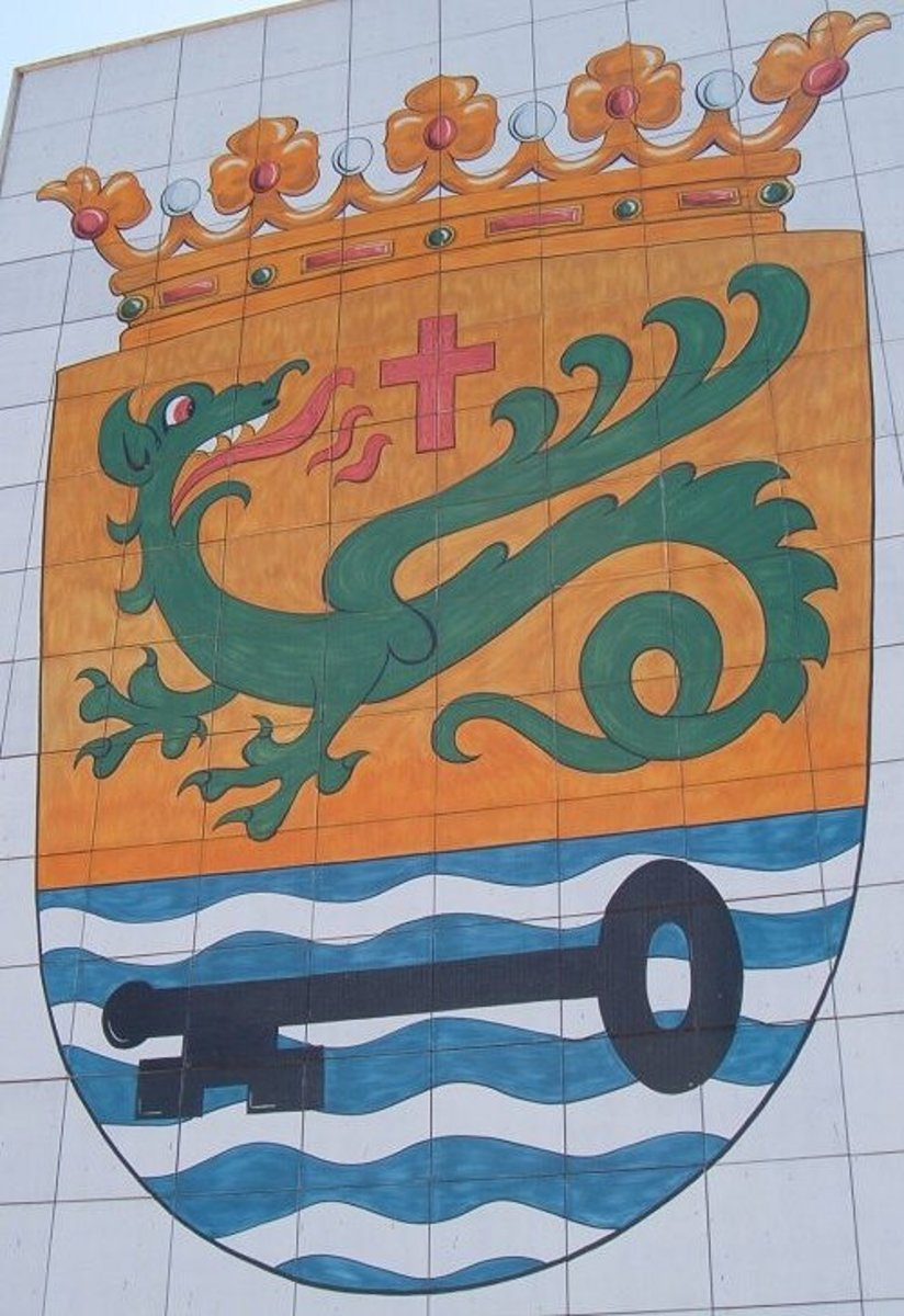Dragon on the Puerto de la Cruz Coat-of-arms