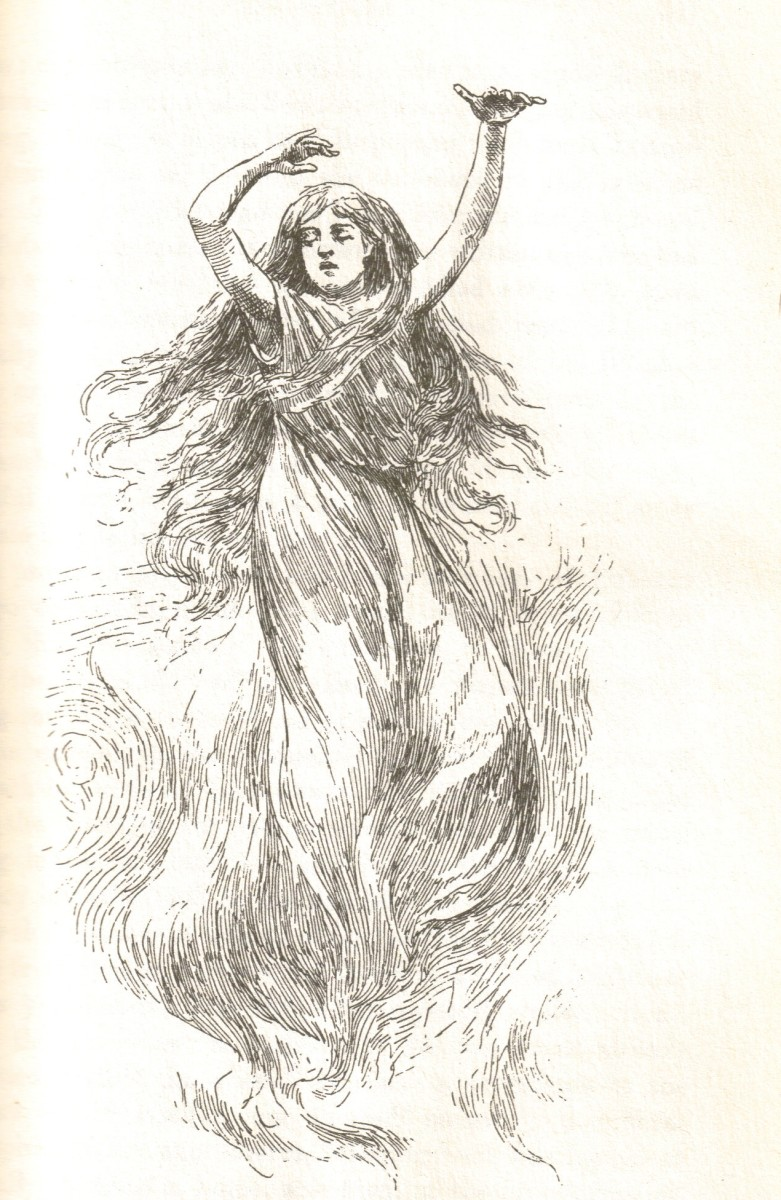 A Friendly Banshee;  drawing by H.R. Heaton