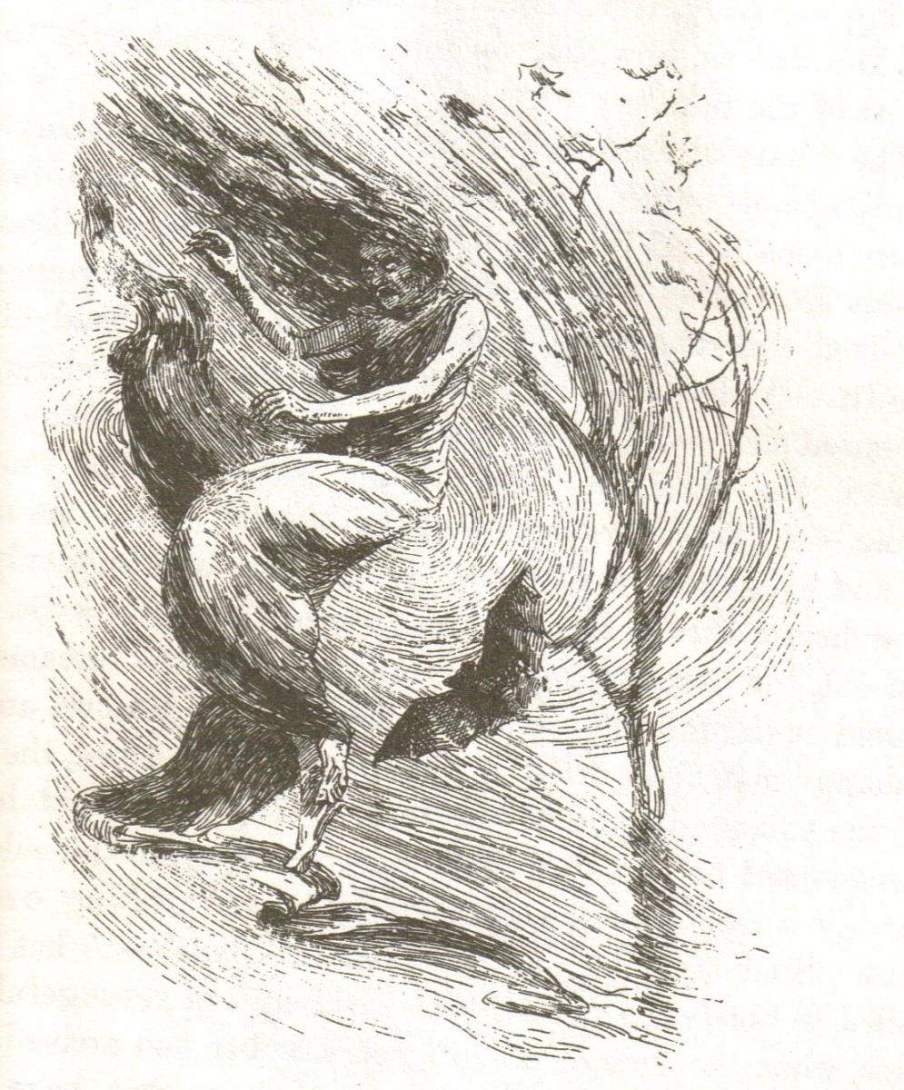 A Hateful Banshee on a Windy Night; drawing by H.R. Heaton