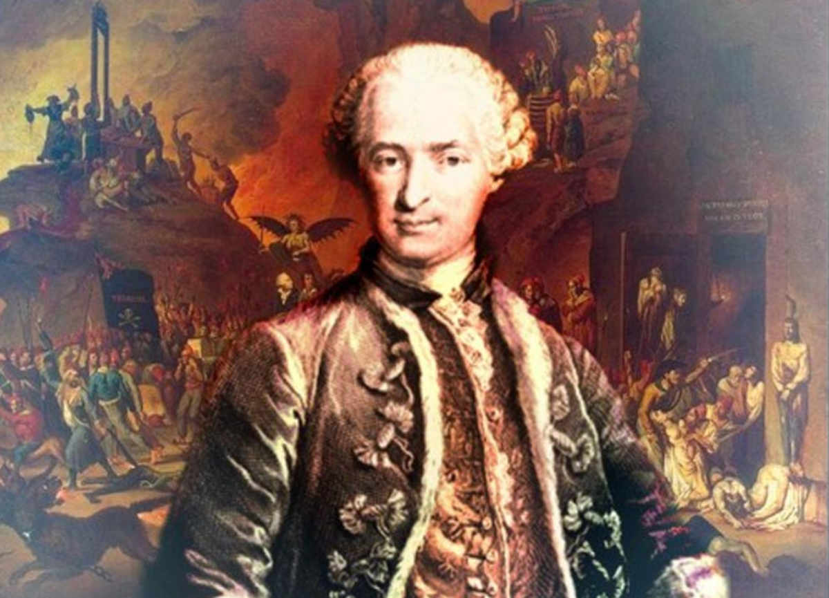 "The Count Saint Germain: ""The man who knows everything and who never dies."""