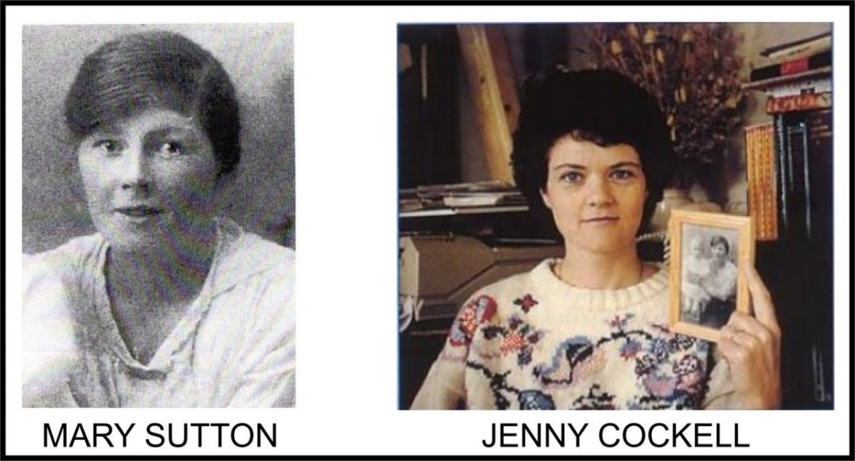 Mary Sutton and Jenny Cockell with photo