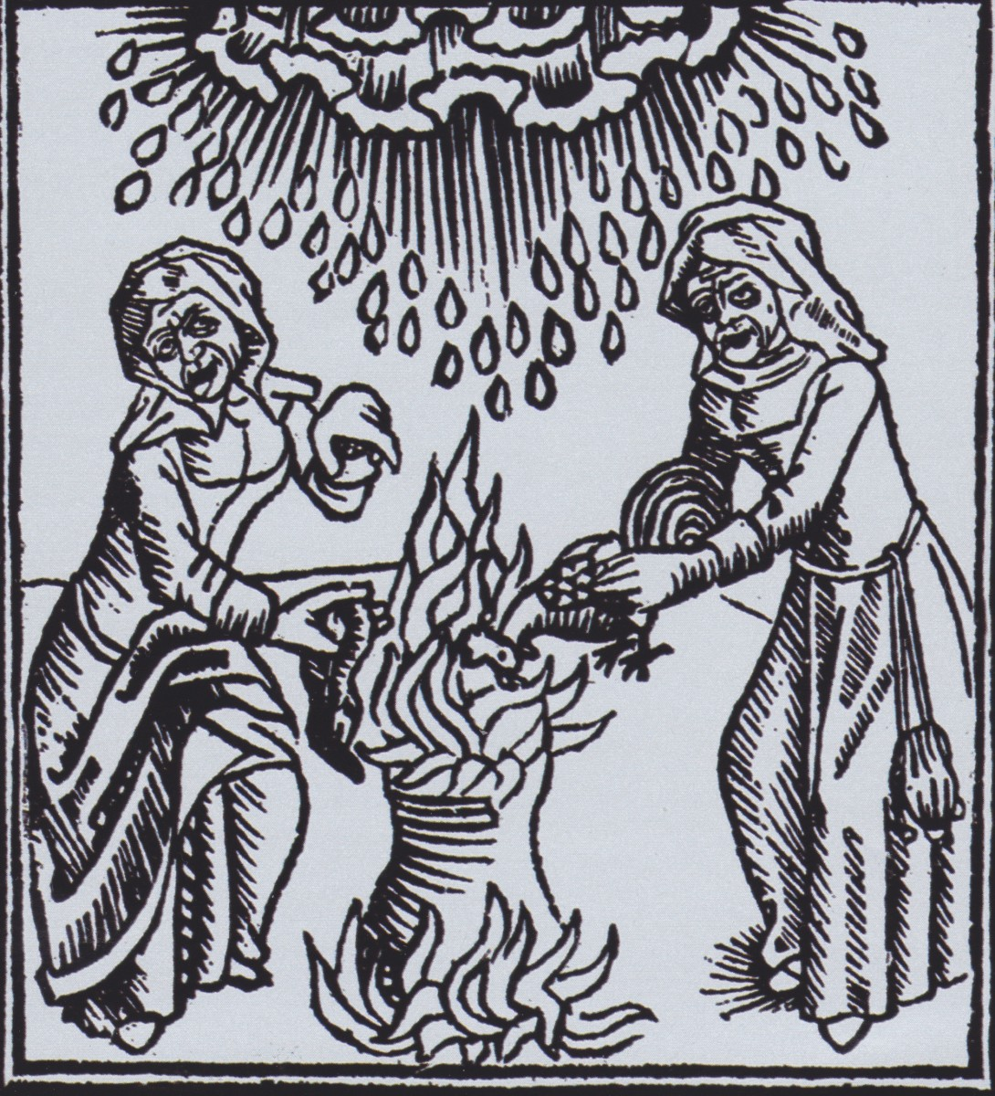It was believed that witches could control the weather.
