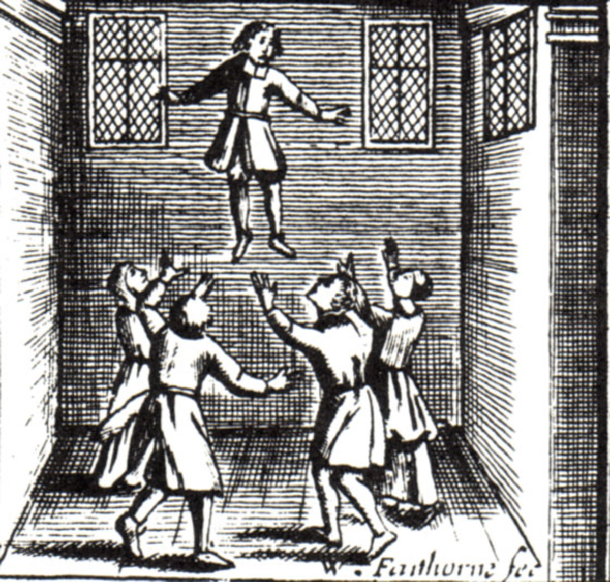 A child levitating due to witchcraft.