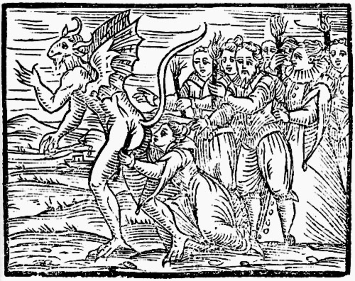 There was often a sexual element thought of those who were convicted of witchcraft.