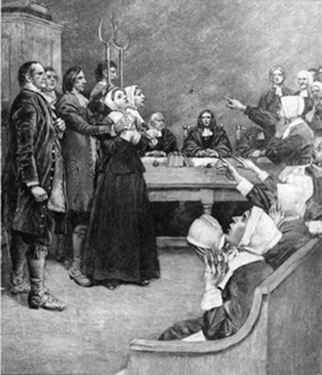 A Witch Trial: Women were often brought to trial due to witch accusals.