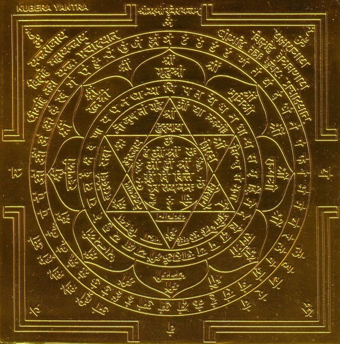Kuber Yantra (Kubera Yantra) prosperity symbol