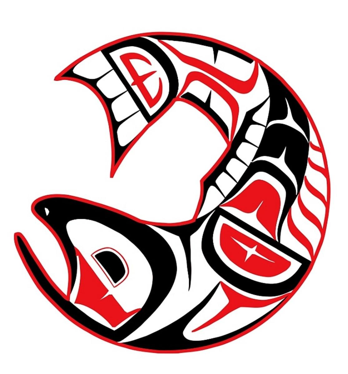 Salmon prosperity symbol