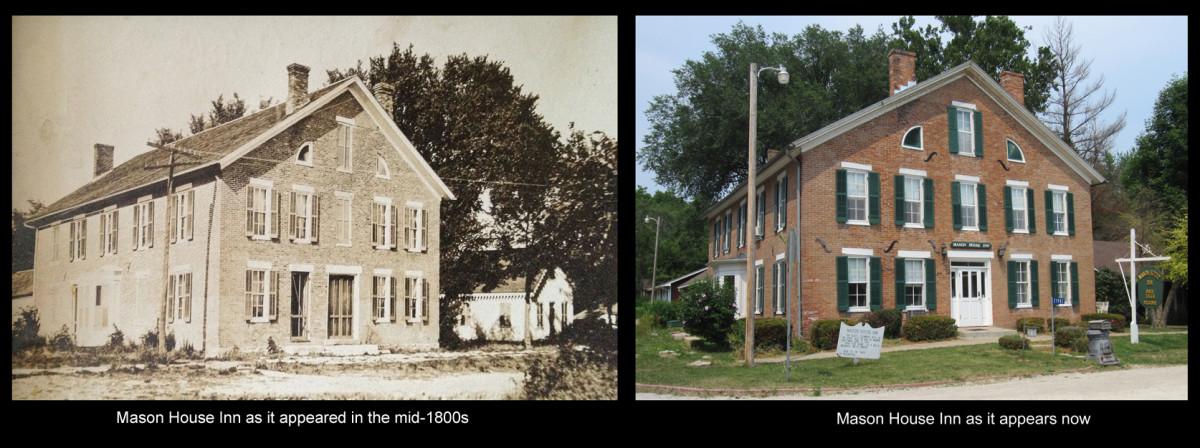 Mason House Inn, then and now.