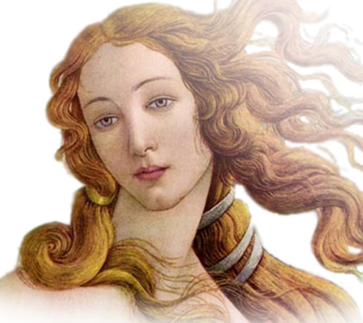 There are very few depictions of Aphrodite where she is not naked. She was believed to be a red head, so here is one depiction that is not indecent for hubpages standards.