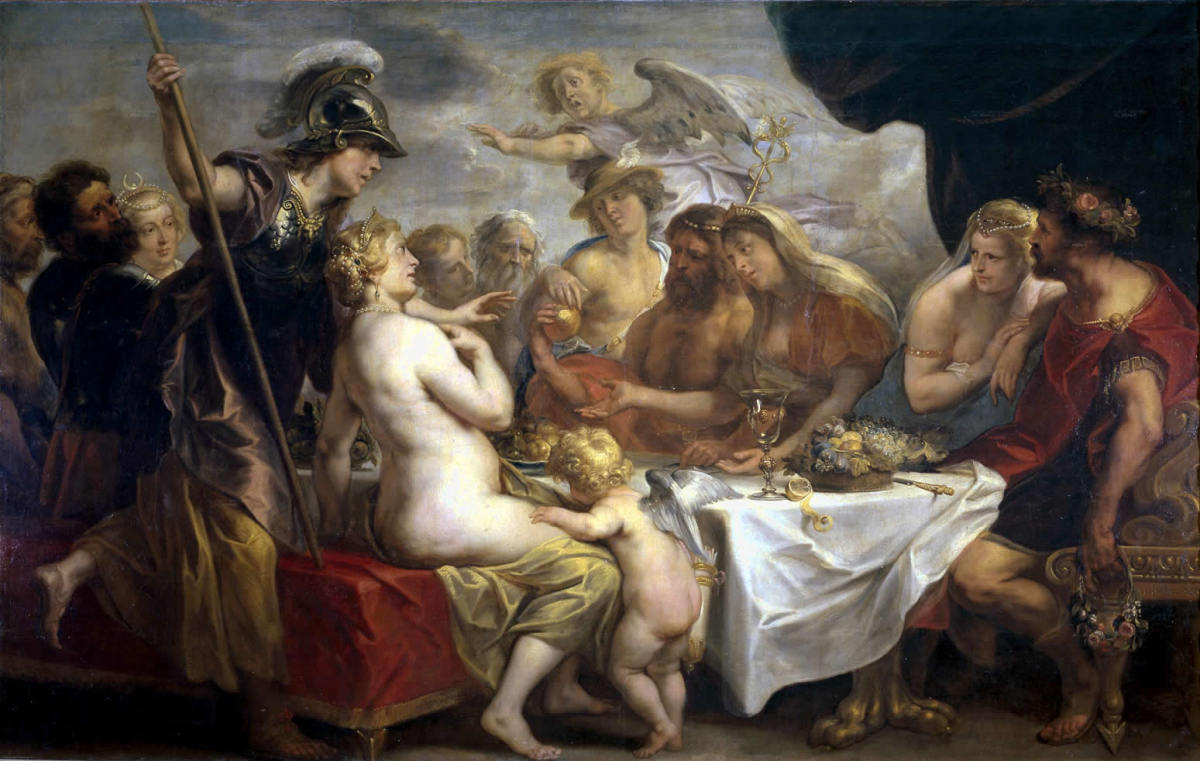 Aphrodite began the Trojan War as a result of the Golden Apple of Discord.