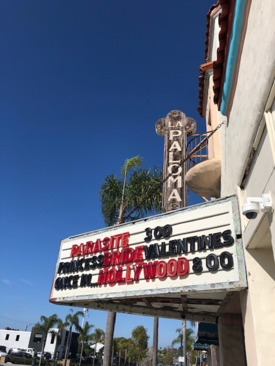 Checking Out the Marquee at La Paloma Theatre