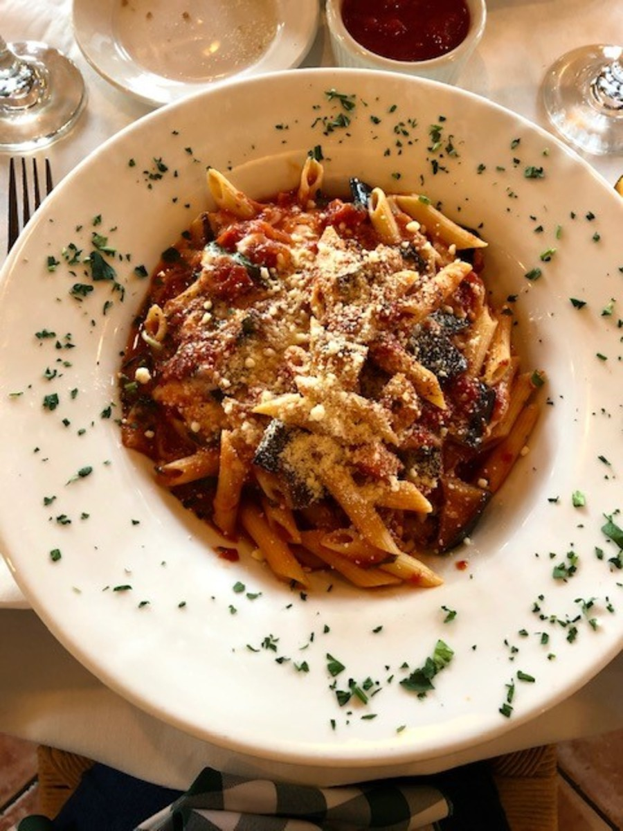 This hearty penne dish at Trattoria I Trulli was a delight.