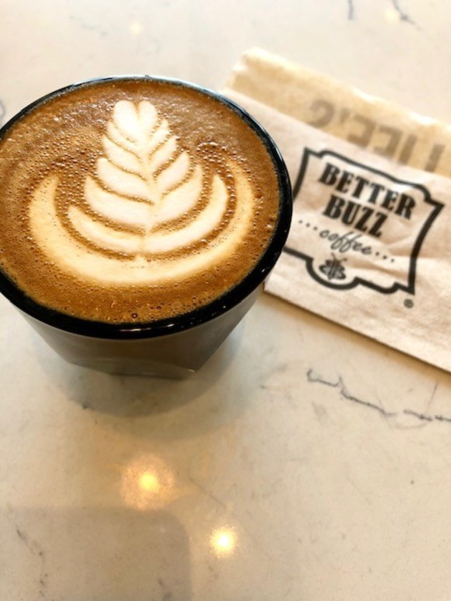 The cortado at Better Buzz Coffee was absolutely delicious.
