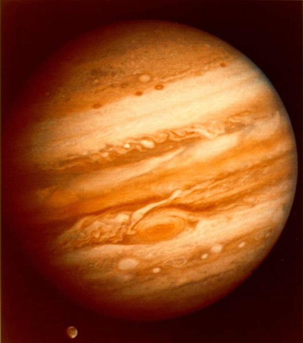 Jupiter, named after the King of the gods because it is the largest of the planets.