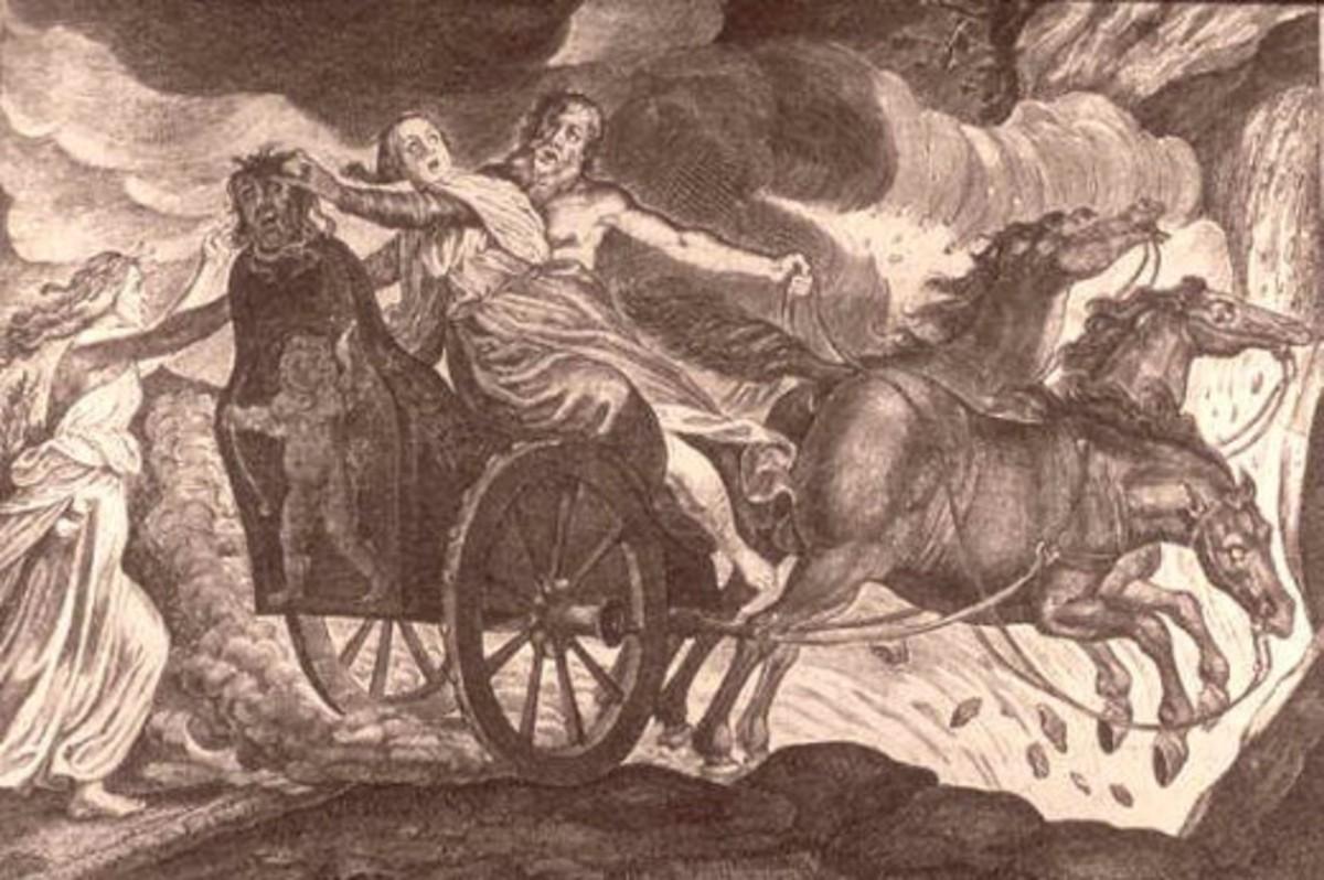 Hades kidnapping Persephone