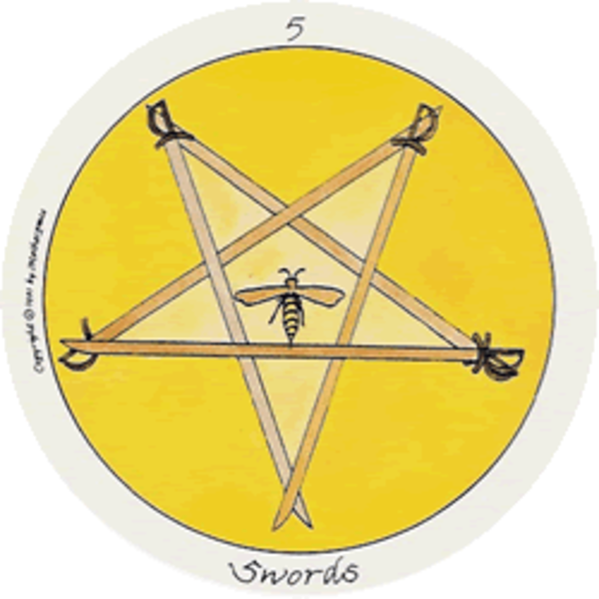 Motherpeace Five of Swords