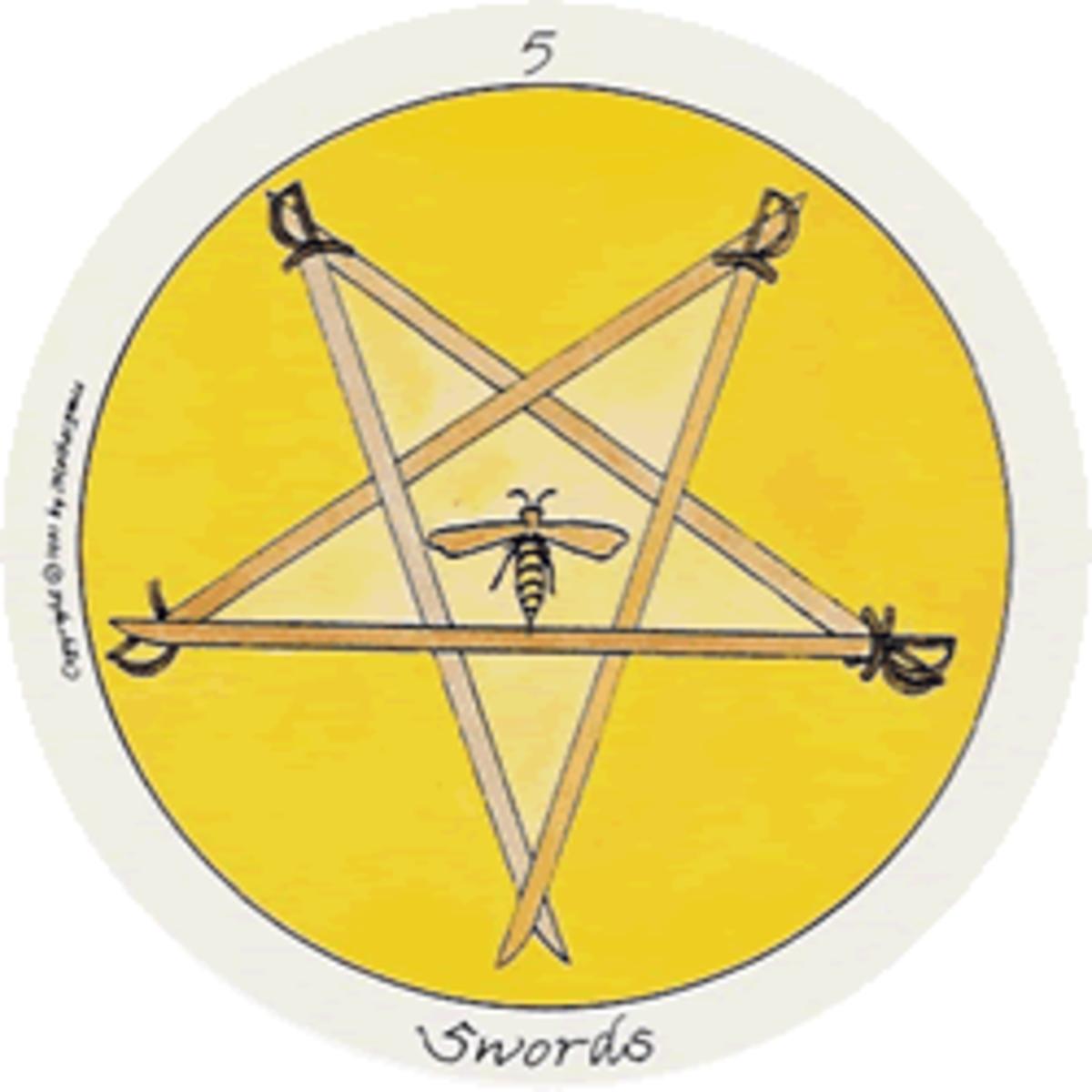 Motherpeace Five of Swords